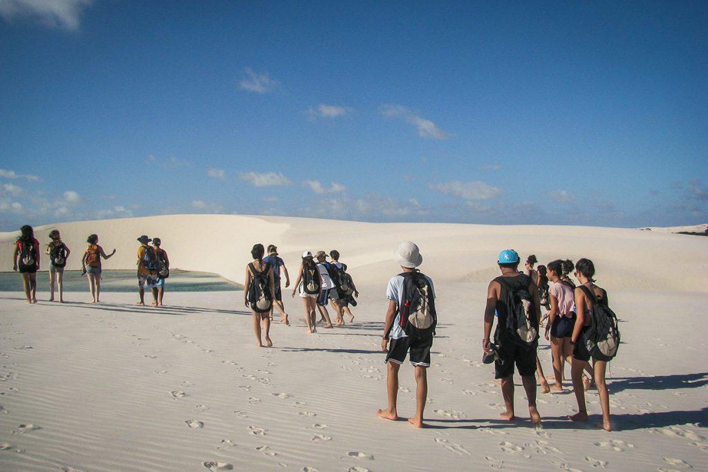 alunos do 8º ano durante viagem pedagógica para o maranhão - Colégio Micael Ensino Fundamental