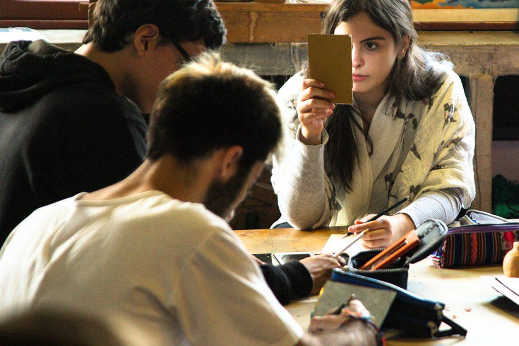 aula de artes do 12º ano - Colégio Micael Ensino Médio