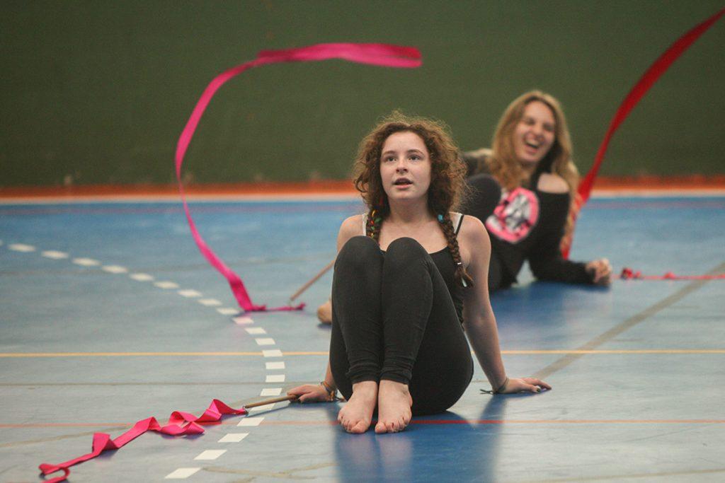 aula de circo do 9º ano - Colégio Micael Ensino Médio