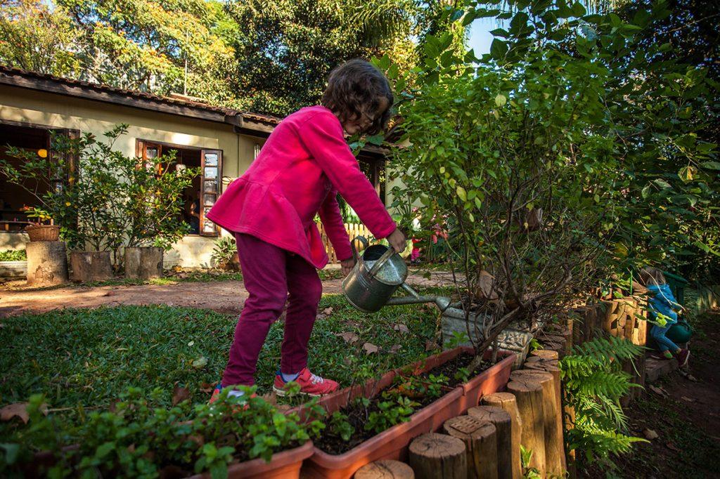 aula de jardinagem - Colégio Micael Educação Infantil