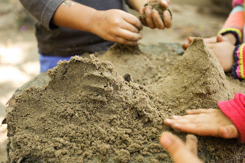 contato com a natureza - Colégio Micael Educação Infantil